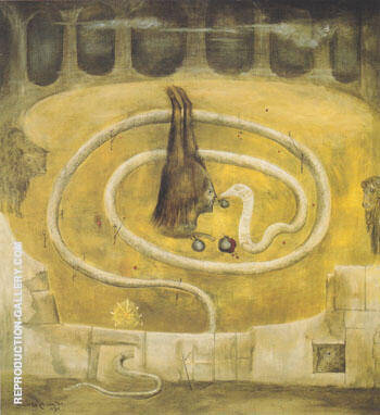 Forbidden Fruit 1969 By Leonora Carrington - Oil Paintings & Art Reproductions - Reproduction Gallery