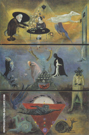 Took My Way Down Like a Messenger to the Deep 1977 By Leonora Carrington - Oil Paintings & Art Reproductions - Reproduction Gallery
