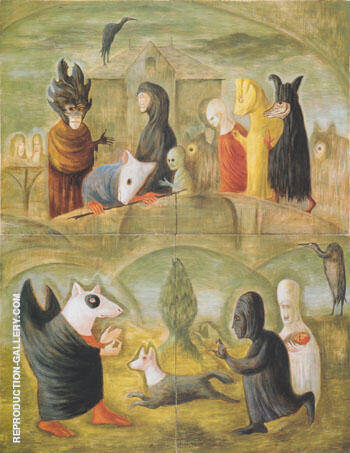 Ikon 1988 By Leonora Carrington - Oil Paintings & Art Reproductions - Reproduction Gallery