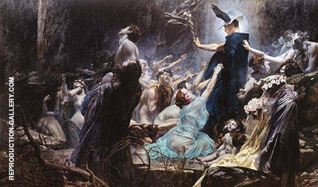 Souls on the Banks of the Acheron By Adolf Hiremy-Hirschl