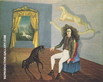 Self Portrait Inn of the Dawn Horse 1937-8 By Leonora Carrington - Oil Paintings & Art Reproductions - Reproduction Gallery