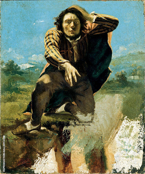 The Desperate Man or The Man Made Mad by Fear 1844 c 1843 Painting By ...