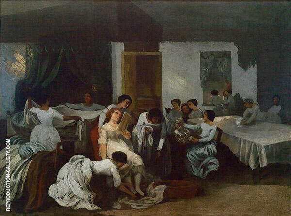 Preparation of the Dead Girl c1850 Painting By Gustave Courbet