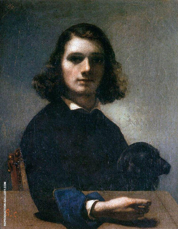 Self-Portrait 1842 Painting By Gustave Courbet - Reproduction Gallery