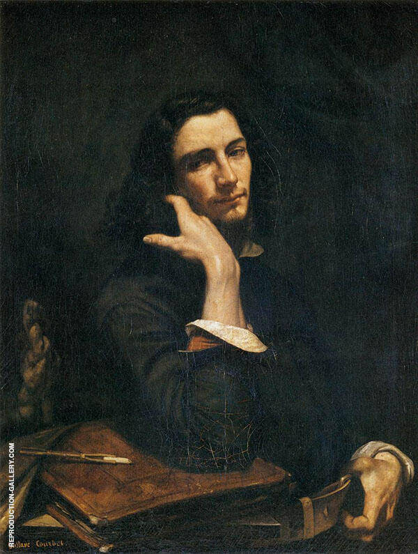 The Man with the Leather Belt 1845-46 By Gustave Courbet