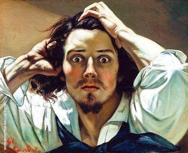 The Desperate Man 1844-45 Painting By Gustave Courbet