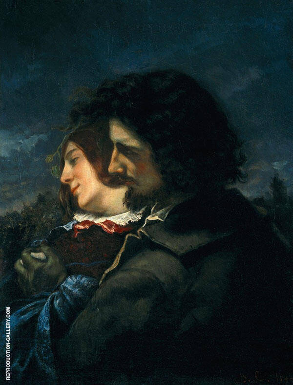 Lovers in the Country 1844 By Gustave Courbet