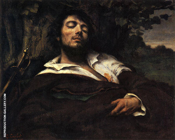 The Wounded Man 1844-45 Painting By Gustave Courbet - Reproduction Gallery