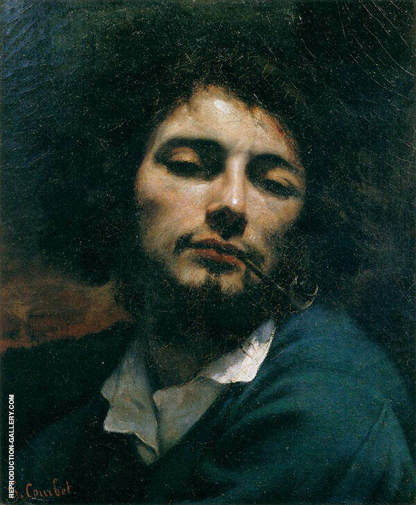 Self-Portrait with Pipe ca.1849 By Gustave Courbet