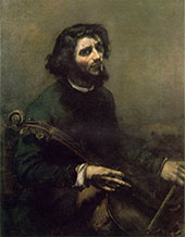 The Cellist 1847 By Gustave Courbet
