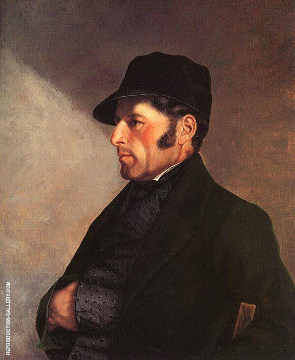 Regis Courbet, Portrait of the Artists Father c1843 By Gustave Courbet