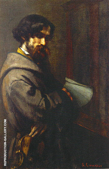 Alphonse Promayet 1851 Painting By Gustave Courbet - Reproduction Gallery