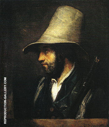 A Hunter 1858 By Gustave Courbet