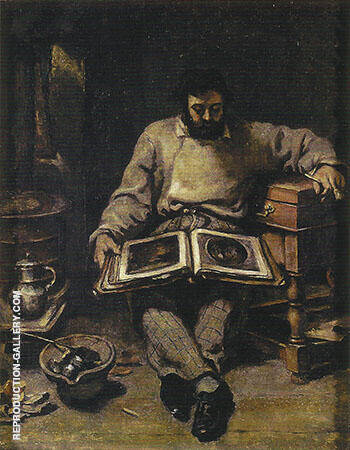 Marc Trapadour ca.1849 Painting By Gustave Courbet - Reproduction Gallery