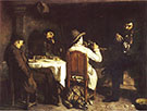After Dinner at Ornans 1848-49 By Gustave Courbet