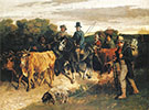 The Peasants of Flagey Returning from the Fair 1850 By Gustave Courbet