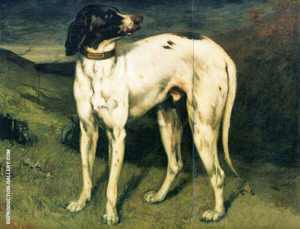 The Dog of Ornans 1856 Painting By Gustave Courbet - Reproduction Gallery