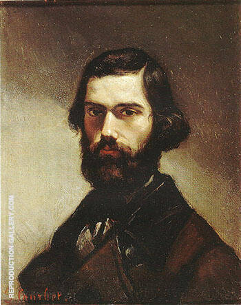 Jules Valles ca.1861 Painting By Gustave Courbet - Reproduction Gallery