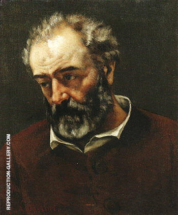 Paul Chenavard 1869 By Gustave Courbet Replica Paintings on Canvas - Reproduction Gallery