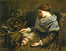 The Sleeping Spinner 1853 By Gustave Courbet