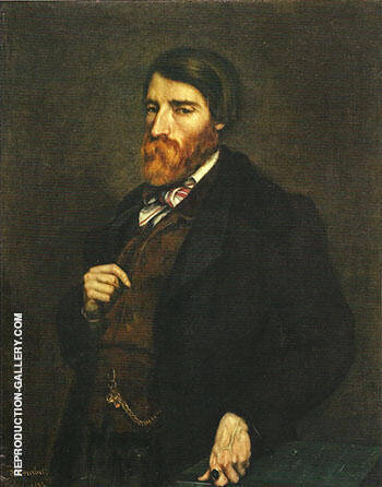 Alfred Bruyas 1853 By Gustave Courbet - Oil Paintings & Art Reproductions - Reproduction Gallery