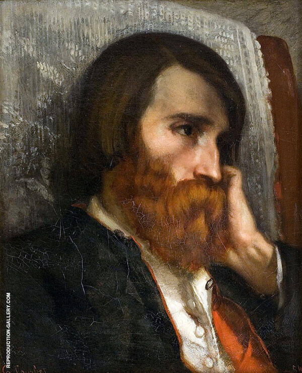 Portrait of Alfred Bruyas 1854 Painting By Gustave Courbet