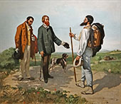 The Meeting or Bonjour Monsieur Courbet 1854 By Gustave Courbet