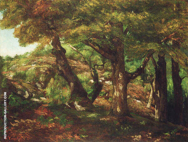 The Fringe of the Forest ca 1856 By Gustave Courbet