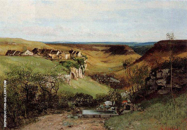 Chateau d'Ornans ca.1850 Painting By Gustave Courbet