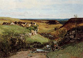 Chateau d'Ornans ca.1850 By Gustave Courbet