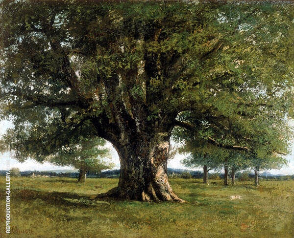 The Oak at Flagey 1864 Painting By Gustave Courbet - Reproduction Gallery