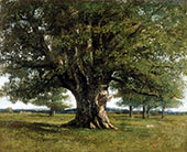 The Oak at Flagey 1864 By Gustave Courbet