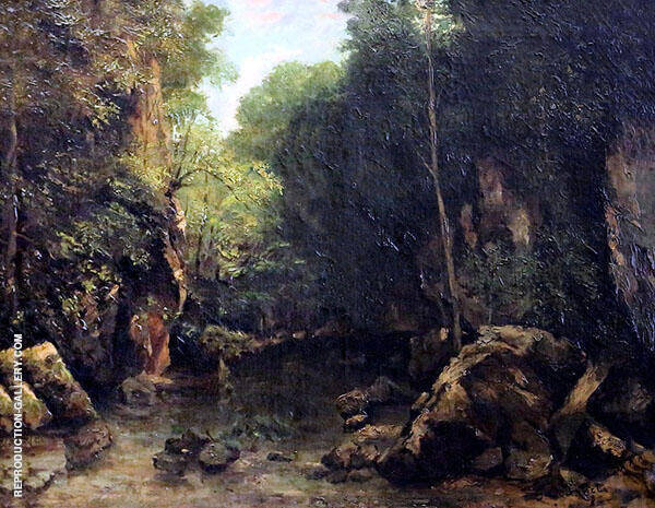 The Stream Puits Noir 1865 Painting By Gustave Courbet