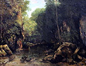 The Stream Puits Noir 1865 By Gustave Courbet