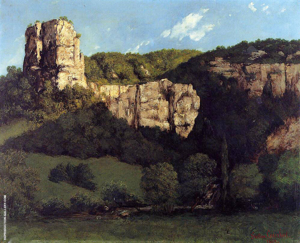 Bald Rock in the Valley of Ornans Painting By Gustave Courbet