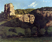 Bald Rock in the Valley of Ornans By Gustave Courbet