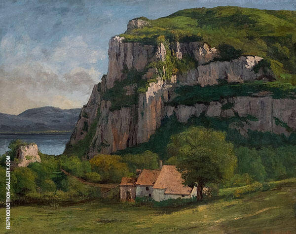 The Rock of Hautepierre ca.1860 Painting By Gustave Courbet
