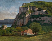 The Rock of Hautepierre ca.1860 By Gustave Courbet