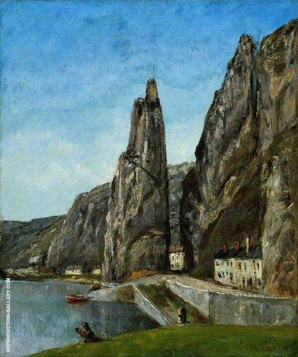 The Rock at Bayard ca 1857-58 Painting By Gustave Courbet