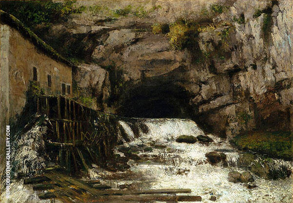 The Source of the Loue 1864 I By Gustave Courbet