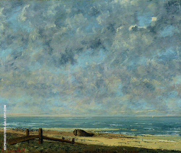 The Sea 1872 Painting By Gustave Courbet - Reproduction Gallery