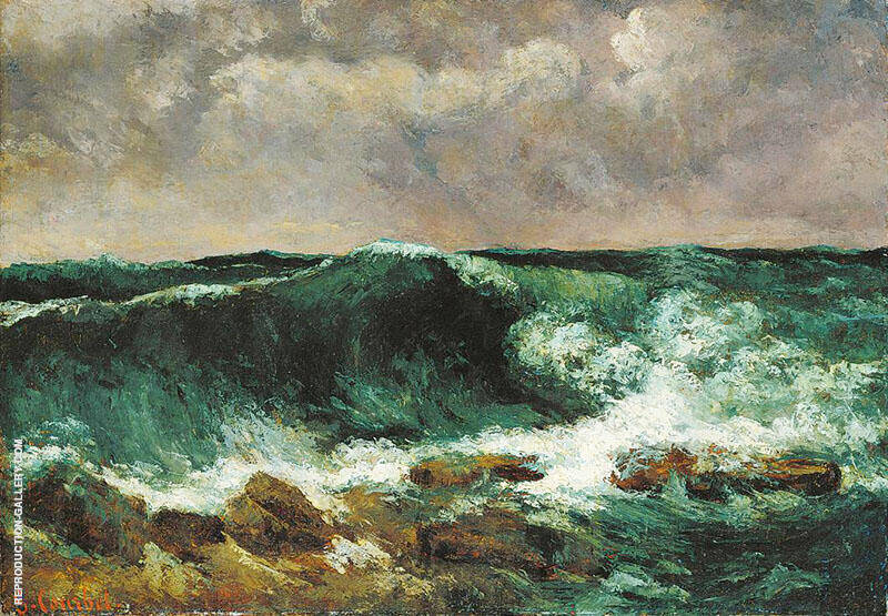 The Wave 1869 I Painting By Gustave Courbet - Reproduction Gallery