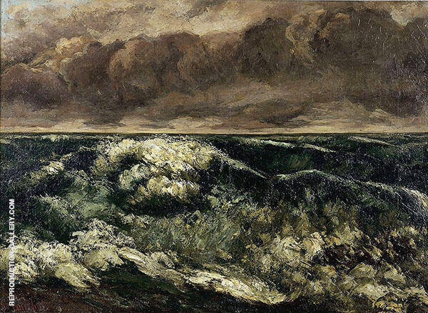 The Wave 1869 II By Gustave Courbet