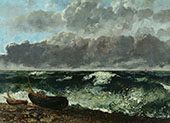 Stormy Sea 1869 By Gustave Courbet