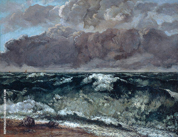 The Wave 1869 III By Gustave Courbet