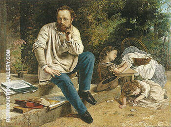 P.J.Proudhon in 1853 Painting By Gustave Courbet - Reproduction Gallery