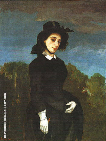 Reproduction of Woman in a Riding Habit 1856 by Gustave Courbet | Oil Painting Replica On CanvasReproduction Gallery