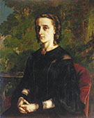 Madame de Brayer 1858 By Gustave Courbet
