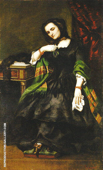 Madame Auguste Cuoq ca.1852 Painting By Gustave Courbet