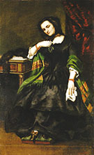 Madame Auguste Cuoq ca.1852 By Gustave Courbet